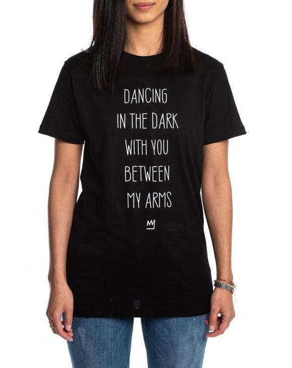 DANCING T-SHIRT IN SCHWARZ