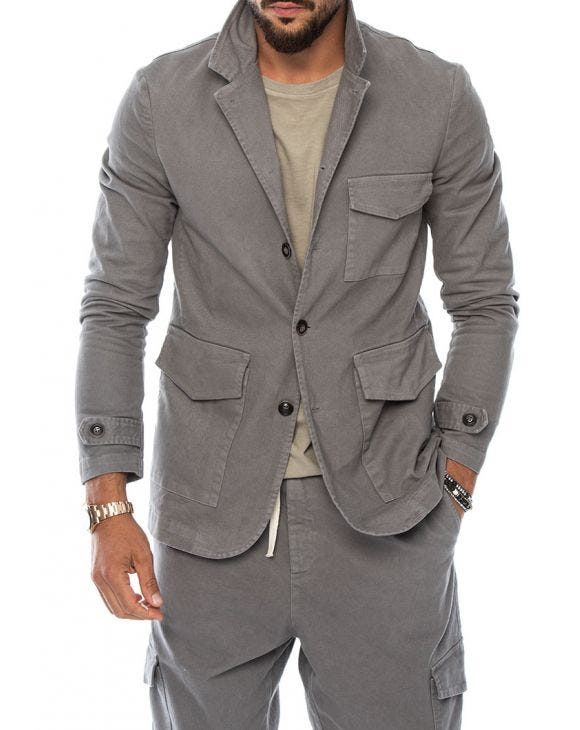 CARTER SINGLE BREASTED BLAZER IN GREY