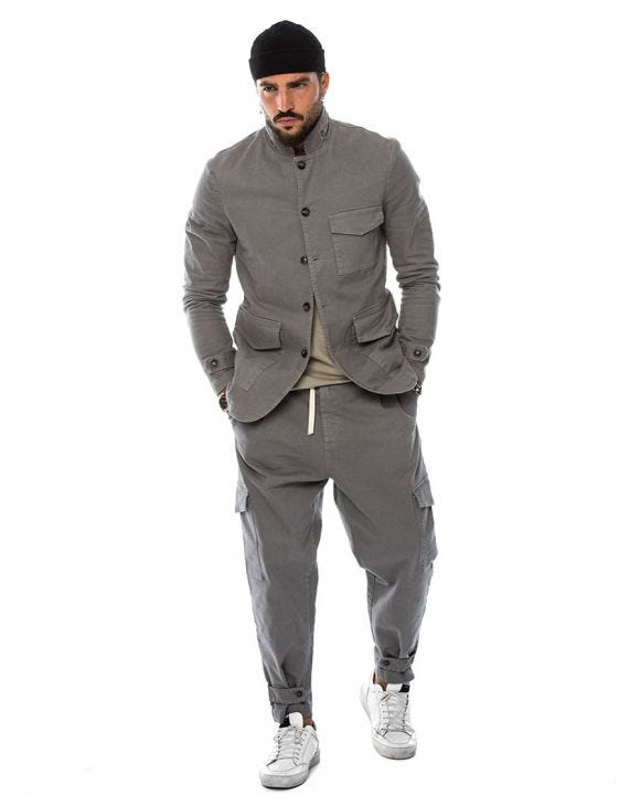 CARTER SINGLE BREASTED SUIT IN GREY