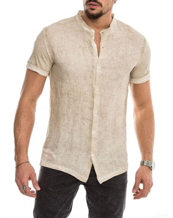 SAHARA LINEN SHIRT IN SAND