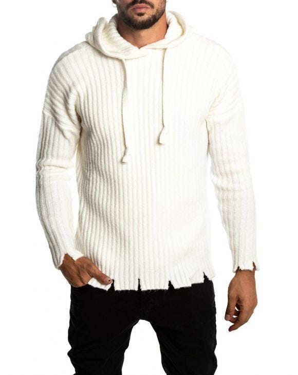 ASPEN RIBBED SWEATER IN CREME