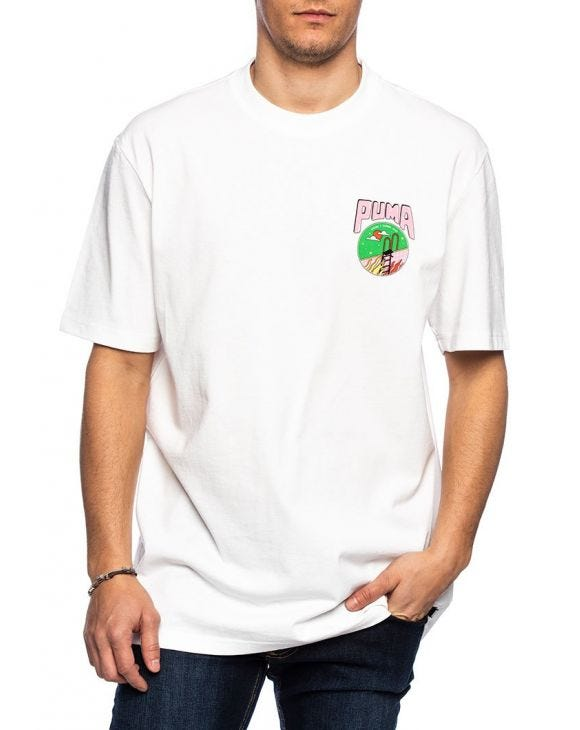 PUM DOWNTOWN T-SHIRT IN WEIß
