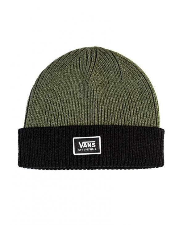 WM FALCON BEANIE IN BLACK AND GREEN