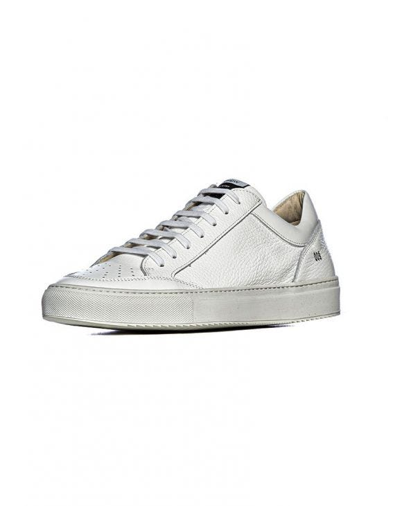 009 SNEAKERS IN WHITE HAMMERED LEATHER