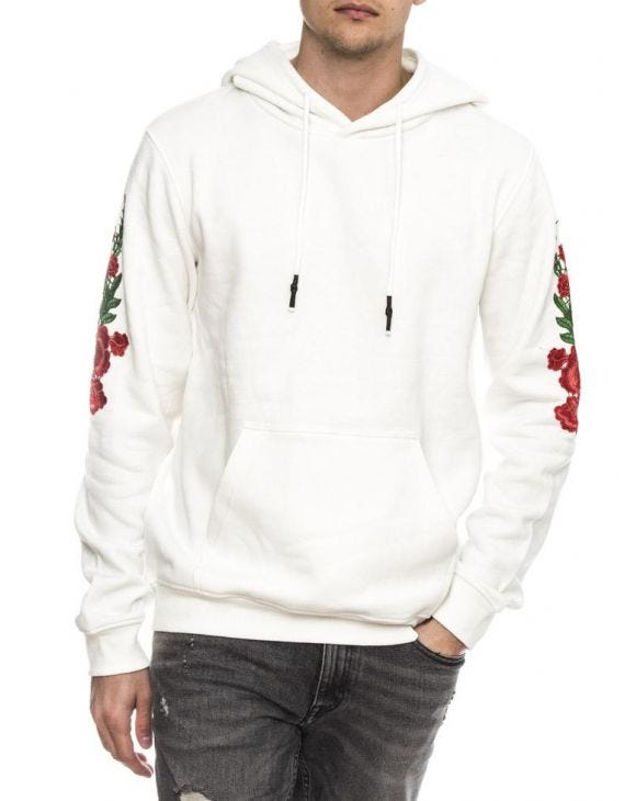 ROSES POCKET SWEATSHIRT IN WHITE