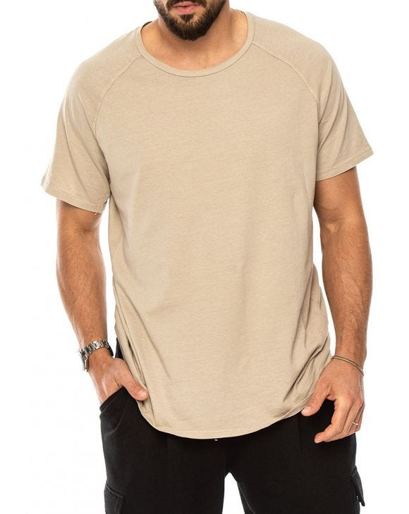 REESE BASIC T-SHIRT IN BEIGE