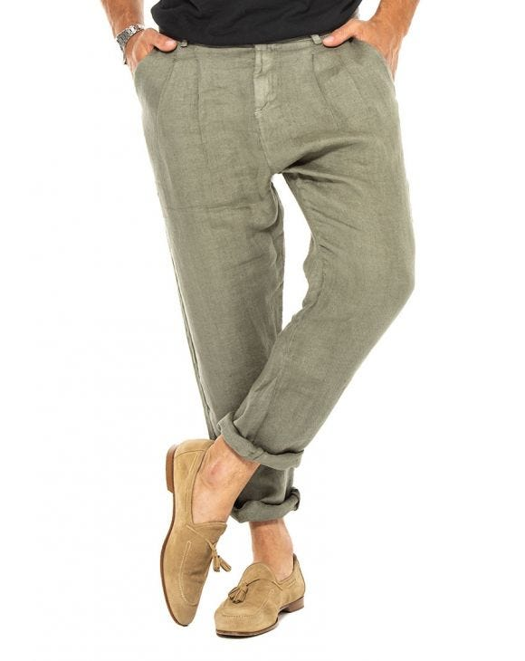 DIJI CASUAL PANTS IN LIGHT GREEN