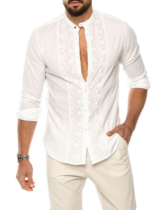 MILO CASUAL SHIRT IN WHITE