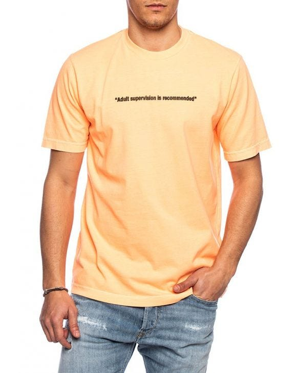 T-JUST T-SHIRT IN LICHTORANGE