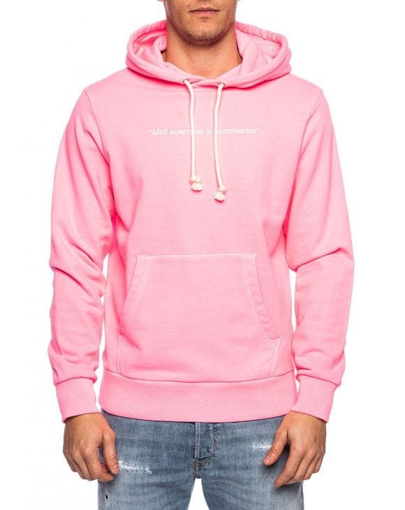 S-GIRK SWEAT À CAPUCHE EN ROSE