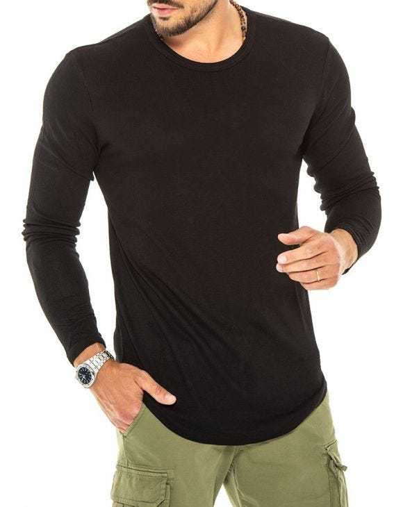 JUDE LONG SLEEVE T-SHIRT IN BLACK