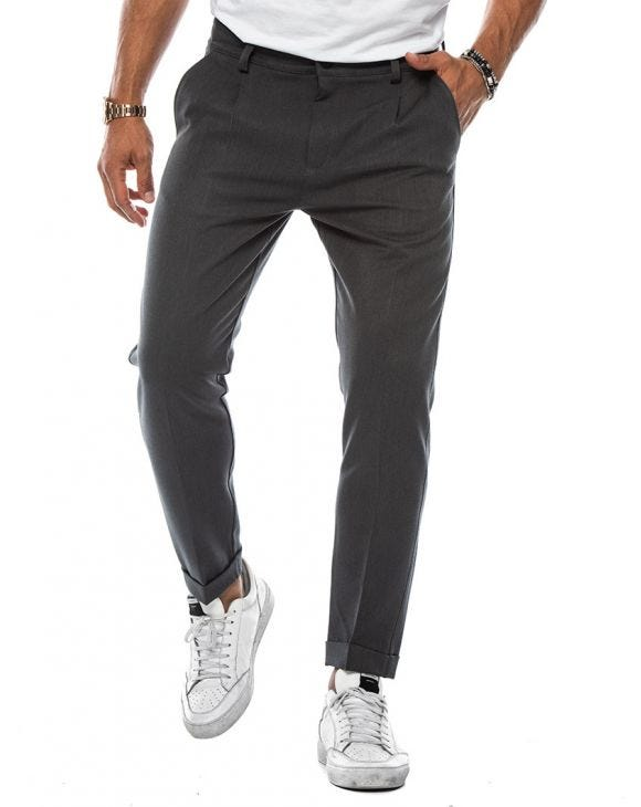 STUART FORMAL PANTS IN LIGHT GREY