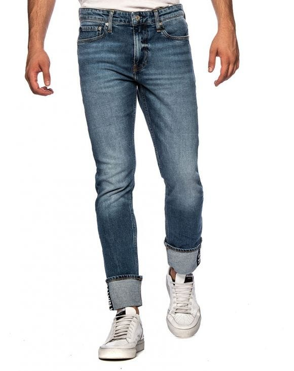 CK LOGO JEANS IN BLUE DENIM