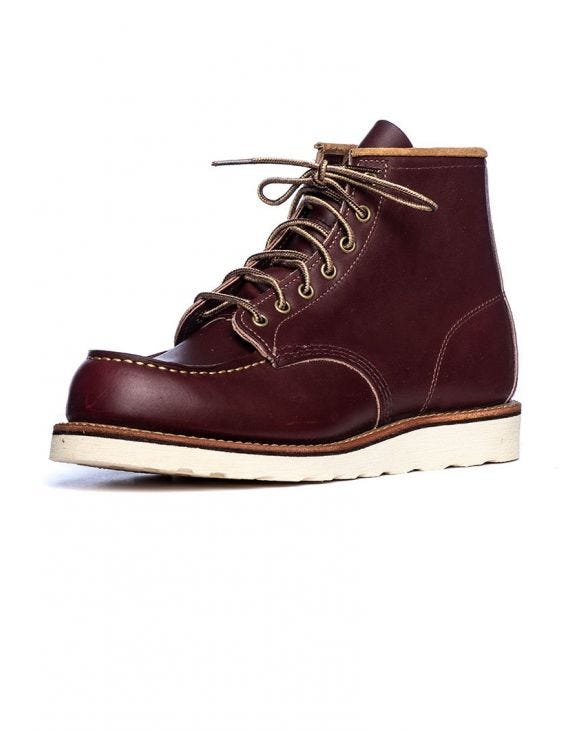 RED WING MOC Zehenstiefel in dunkelbraun