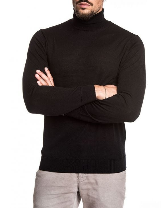 KOROS ROLL NECK JUMPER IN BLACK