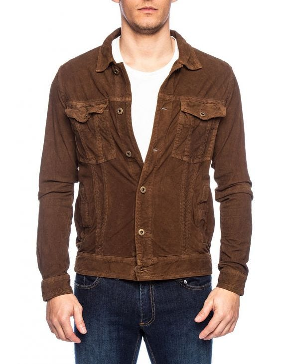 OLIVIERO LEATHER JACKET IN TOBACCO