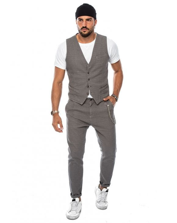 FRANK VEST SUIT IN GREY