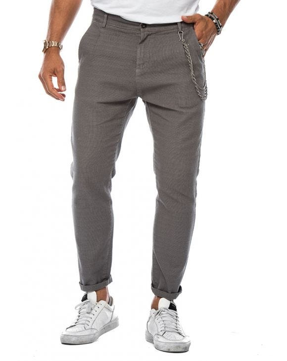 FRANK CASUAL PANTS IN GREY