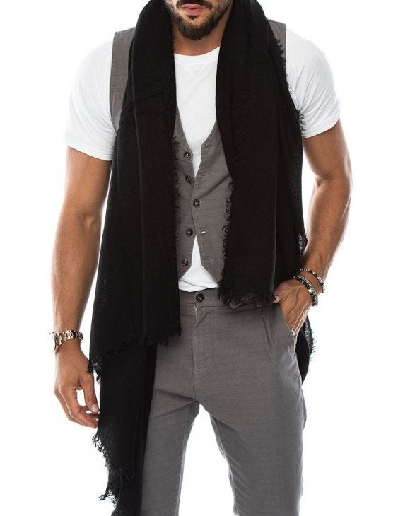 RHETT SCARF IN BLACK