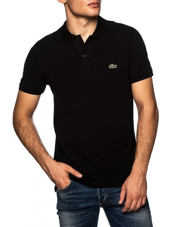 LACOSTE POLO IN BLACK