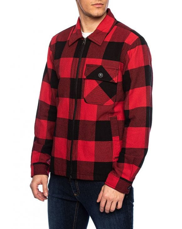 BUFFALO TIMBER CAMICIA ROSSA A QUADRI