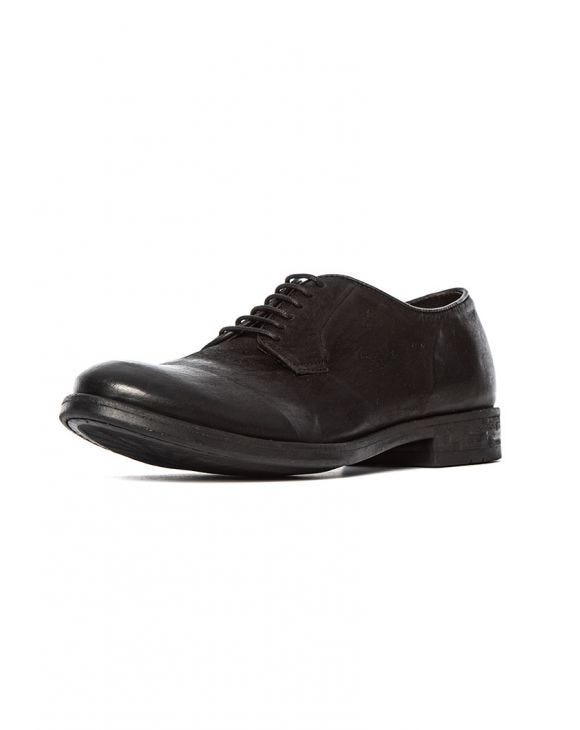BAND LEATHER SHOES IN BLACK