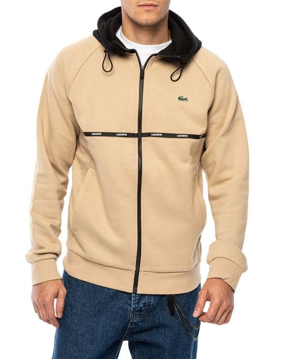 SPORT TWO-TONE SWEATSHIRT IN BEIGE AND BLACK