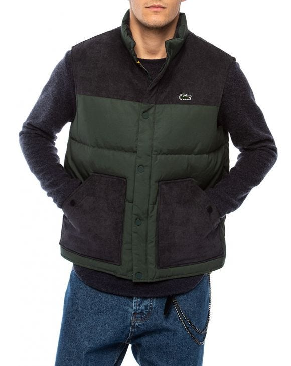 LIVE VEST JACKET IN BLUE AND GREEN