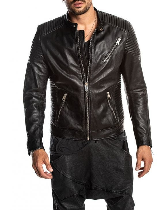 BLADE LEATHER JACKET IN BLACK