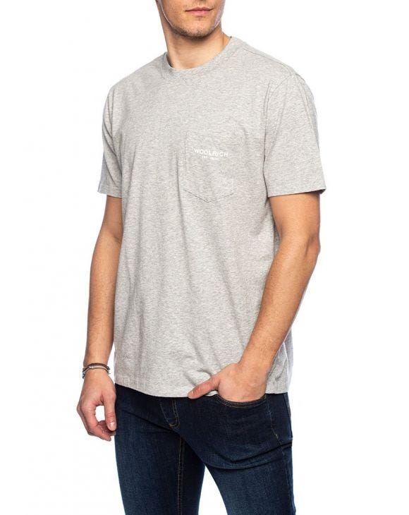 POCKET T-SHIRT EN GRIS CLAIR