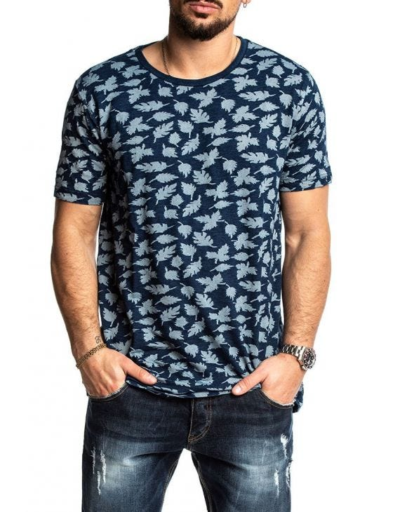 ROD T-SHIRT IN BLAU