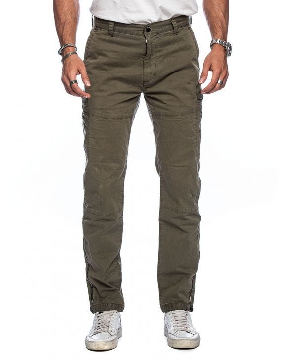 SURPLUS GOODS AVIATOR PANTS IN GREEN