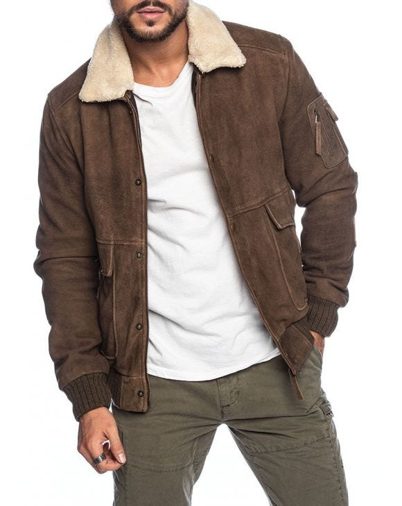 MIGUEL LEATHER JACKET IN BROWN