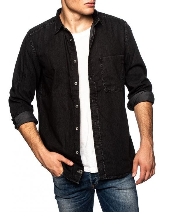 D-BER DENIM SHIRT IN BLACK DENIM