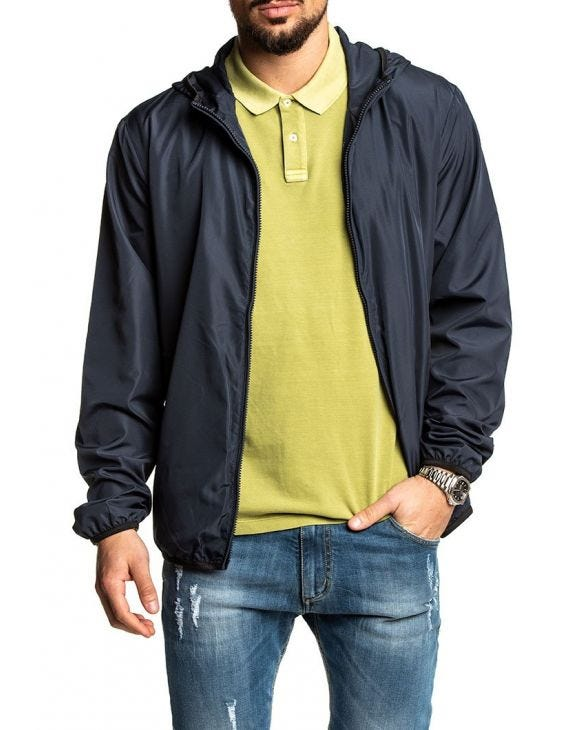 EA7 WATERPROOF JACKET IN BLUE