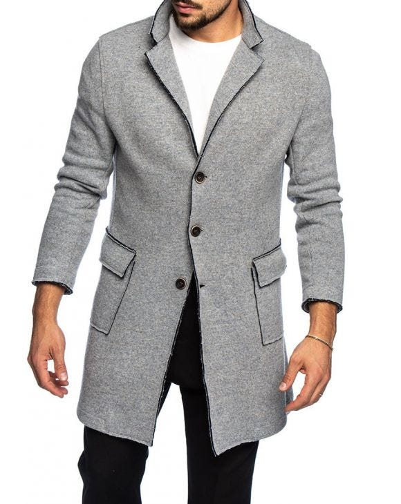 ZANE COAT IN GREY