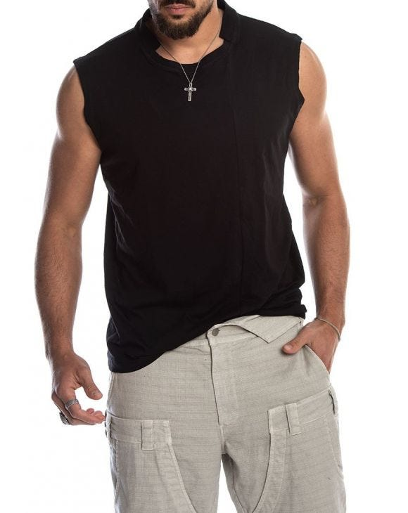 IKEMA TANK TOP IN SCHWARZ