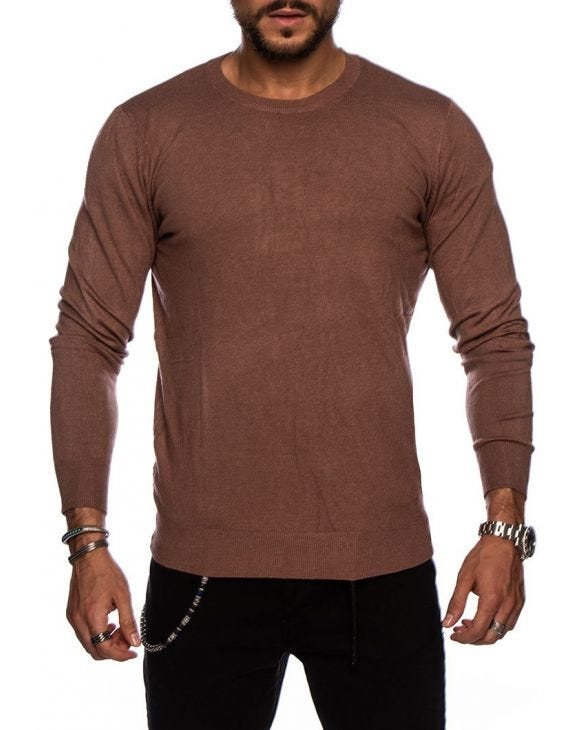 LARRIE CREWNECK SWEATER IN TOBACCO