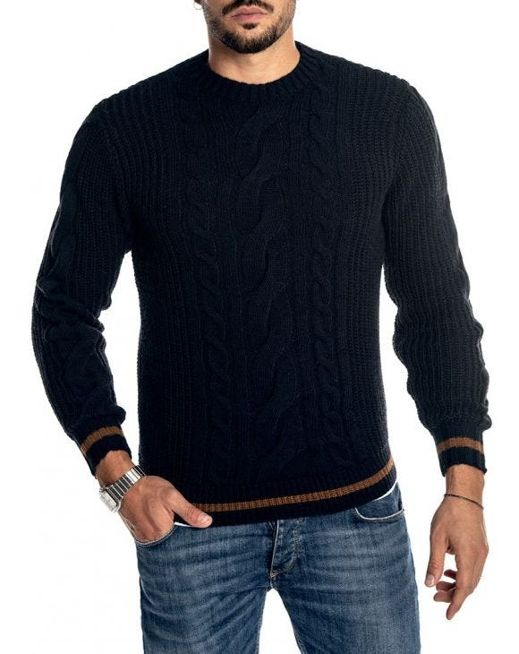 COLT CREWNECK SWEATER IN BLUE NAVY