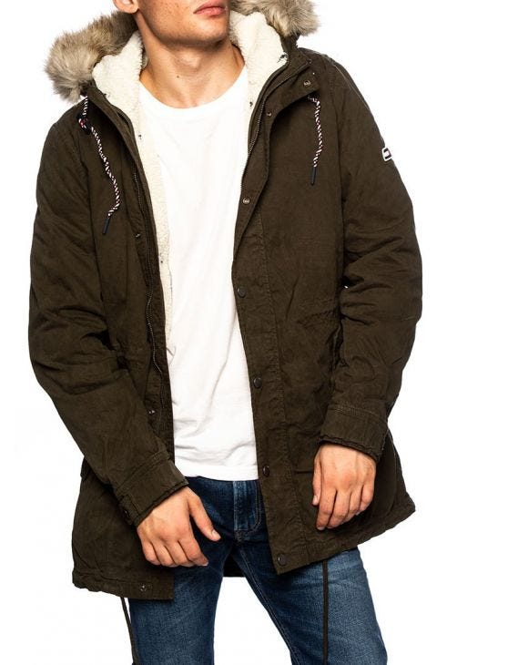 TJM COTTON LINED PARKA VERDE