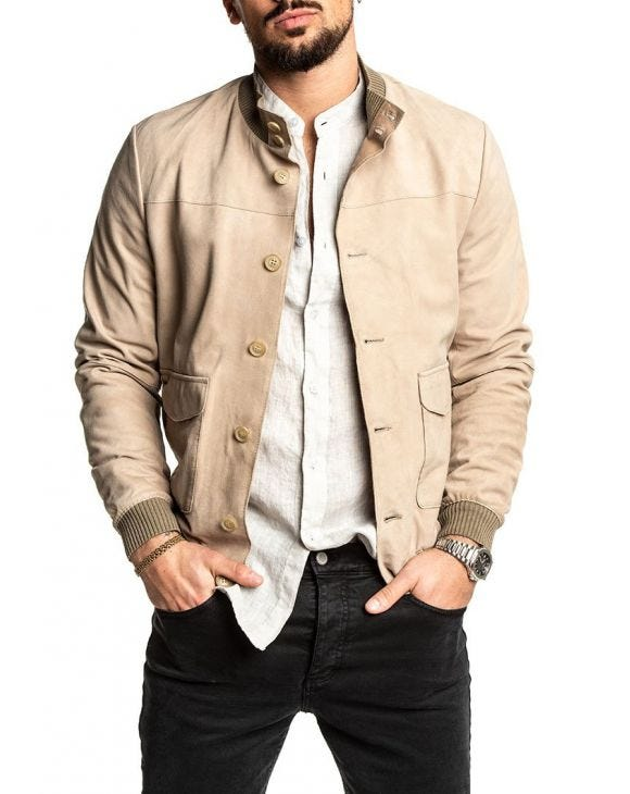 CARLOS JACKET IN BEIGE