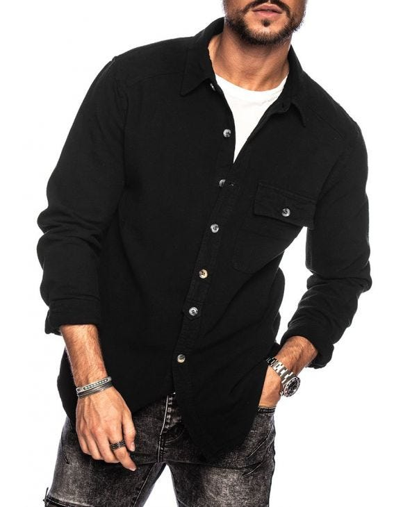 JEFF CASUAL SHIRT IN BLACK