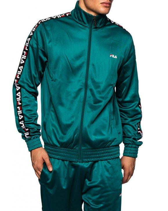 MEN TAPE TYRACK JACKET IN GREEN