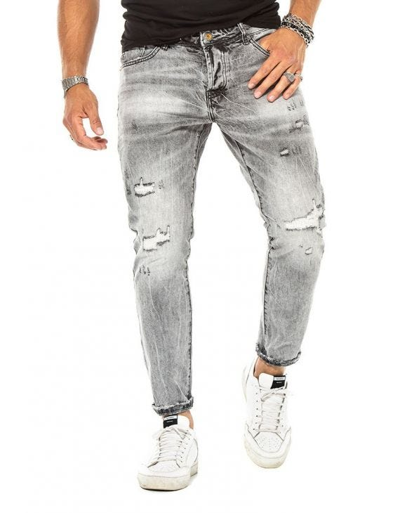 DYLAN STRAIGHT JEANS IN GREY