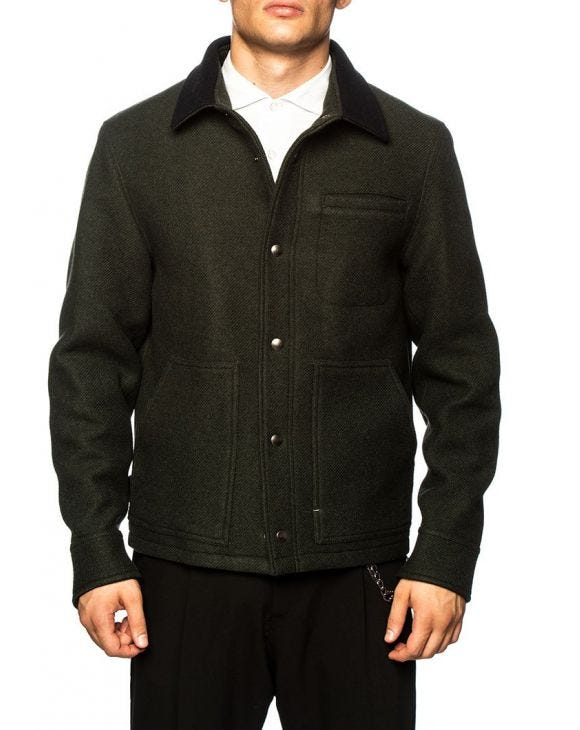 DONKEY JACKET IN GREEN