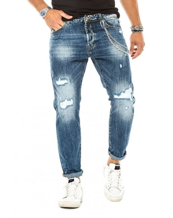 FLANN SLIM JEANS IN BLUE