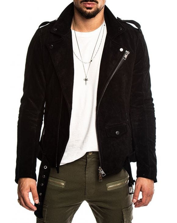 HYDE LEATHER JACKET IN BLACK