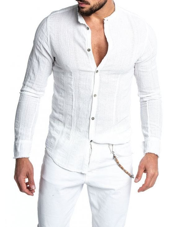 SABURO CASUAL SHIRT IN WHITE