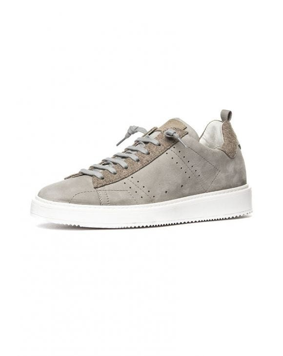 PLUTO 1B18 SNEAKERS IN GREY AND BEIGE