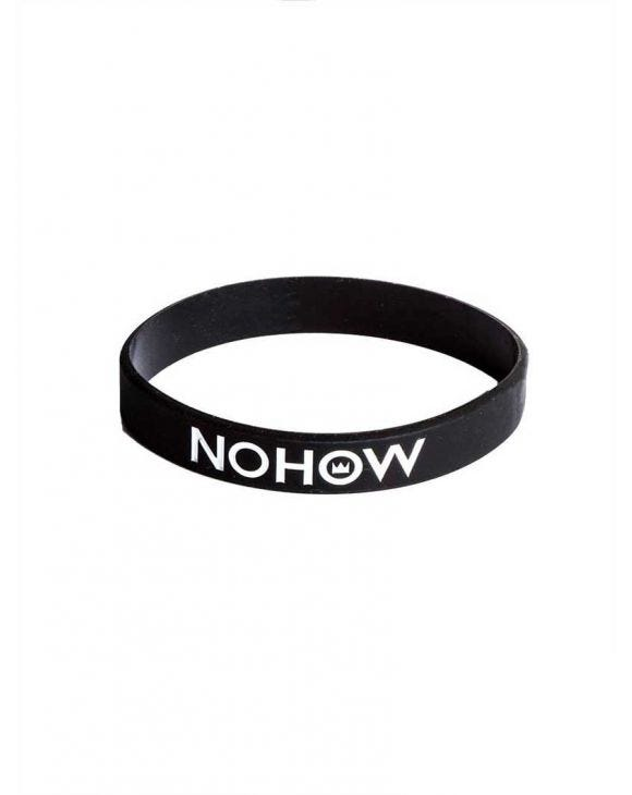 BLACK NHW RUBBER BRACELET